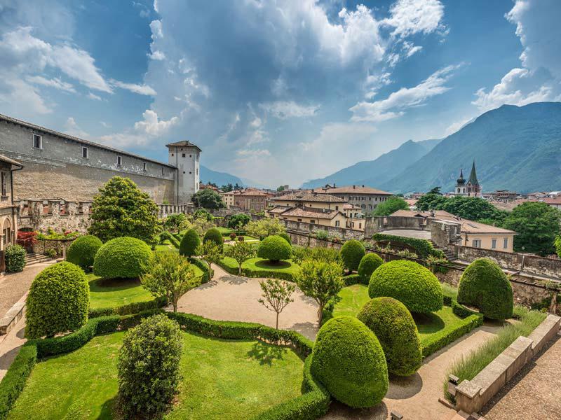 Il Buonconsiglio a Trento, antica sede dei principi-vescovi, il più famoso castello trentino