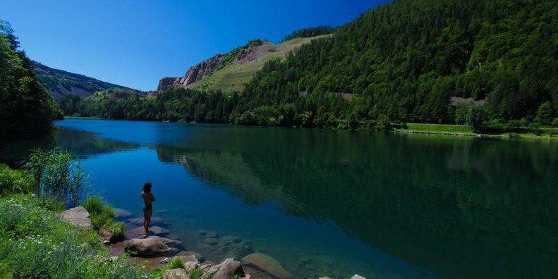 lago di lases - laghi del trentino